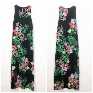Vince Camuto Havana Tropical Print Maxi Dress S